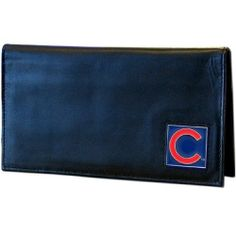 MLB Chicago Cubs Leather Checkbook Cover by Siskiyou. $12.59. Our executive checkbook cover is made of high quality leather includes inside pockets for added storage and plastic separator sheet for duplicate check writing. Team logo square is sculpted and enameled with fine hand painted detail. The checkbook cover is packaged in a collector's sports tin which makes it perfect for gift giving.