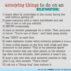 """Elevator prank ideas"" - I can totally see the Joker doing these xD"