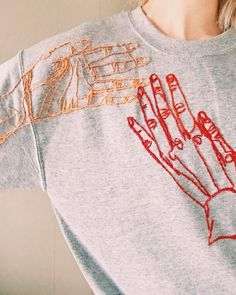 Hand crewneck is on Etsy  #embroidery