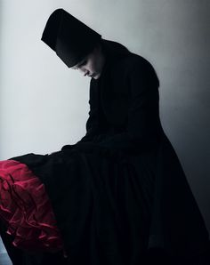 """Dark Arts"". Vika Kuropyatnikova by Philippe & Cesarie Yard for Dazed & Confused August 2008"