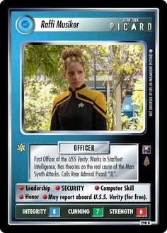 Star Trek Characters, Female Characters, Star Trek Ccg, Star Wars, History Of Television, Rear Admiral, Star Trek Universe, Collector Cards, Deep Space