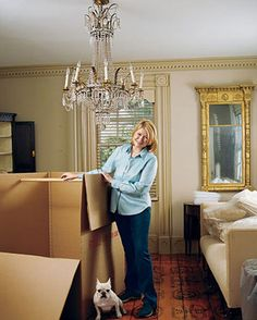 """Packing tips. """"If I had to move a whole house full of antiques I would sit in the middle of the floor and cry, and Martha Stewart would probably never stop laughing if she saw the way I've moved."""""""