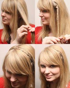 Peinados con trenzas... Encuentra más ideas de peinados sencillos en...http://www.1001consejos.com/peinados-en-5-minutos/