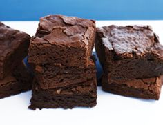 Using cocoa powder and semisweet chocolate allowed us to cut back on the traditional high-fat, high-sugar ingredient quantities in brownies and still have a satisfyingly chewy, chocolaty dessert.