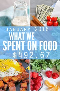 Food prices in greater Atlanda, GA and what a family of four spent on groceries for January 2016. Think you spend too much on groceries? These guys spend only $330 each month - and it's clean eating, real food. No junk allowed! :: DontWastetheCrumbs.com