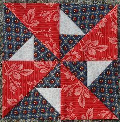 """Mrs. Massie's Party    Block from the book """"The Civil War Love Letter Quilt."""""""