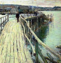 Frederick Childe Hassam - American (1859 - 1935), Impressionist, Landscape
