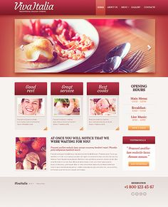 Italian Restaurant Website Template #food #cafe #html http://www.templatemonster.com/website-templates/42842.html?utm_source=pinterest&utm_medium=timeline&utm_campaign=it