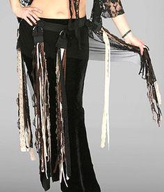 Mesh and Lace Fringe Tribal Fusion Belt