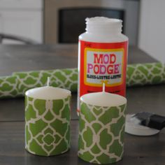 DIY pattern candles.