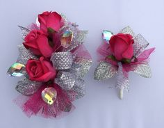 Hot Pink Prom Corsage