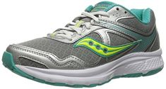 Saucony Women's Cohesion 10 Running Shoe, Grey/Tea/Ct, 5 M US