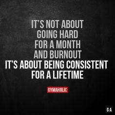 It's not about going hard for a month and burnout It's about being consistent for a lifetime. More motivation: https://www.gymaholic.co #fitness #motivation #gymaholic