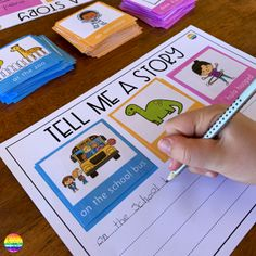 Tell Me A Story Writing Center - get even the most reluctant writers writing with this helpful writing center pack Year 1 Classroom, Early Years Classroom, Eyfs Classroom, Literacy Stations, Literacy Centers, Preschool Writing Centers, Learning Centers, Learning Spanish, Phonics Activities
