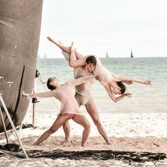 Ballet + beach = what more could you want! Behind the scenes at our Most Beautiful People 2016 shoot for @whomagazine! #WHOMostBeautiful special issue, on sale now.  @dimityazoury, @chris_ausballet and @benedictebemet 📷 @allymally