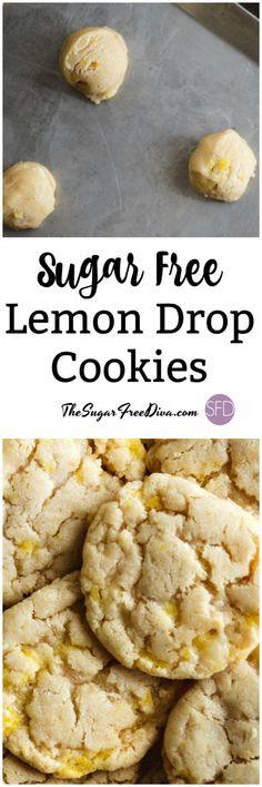 Sugar Free Lemon Drop Cookies #sugarfree #cookies #recipe #lemon #yummy #trending #popular