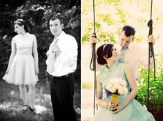 Retro Styled Engagements by La Lune Events & Mary Banducci Photography