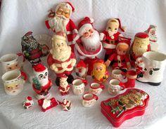 Vintage Christmas Santa Claus Decorations - 1940s-1980s