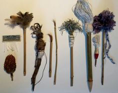 """""""Make objects that talk & then listen to what they have to say."""" ~Art & Fear We'll be exploring this concept in Brush Making & The Art of the Mark this weekend in Racine. It's not too late to join us! Here are samples of the brushes we'll be making. Head on over to this link for all the details and registration info: https://squareup.com/market/crystal-neubauer-artist/january-brushmaking-the-art-of-the-mark"""