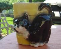 Royal Copley Black & White Cat Planter