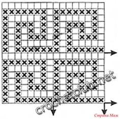 crochet devices with greek design, crochet patterns like the pattern based on the greek ornament (greek meander). Filet Crochet Charts, Crochet Borders, Crochet Diagram, Crochet Squares, Crochet Motif, Crochet Stitches, Gilet Crochet, Crochet Shirt, Crochet Cardigan