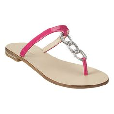 """Jeweled three ring thong .5"""" sandal.  This style is available exclusively @ Nine West Stores & ninewest.com."""