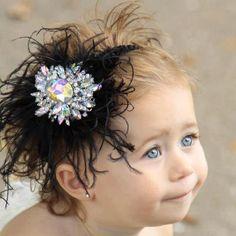 Memory Headband Crystal Rhinestone Feather by gigistitches on Etsy, $19.95