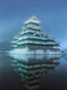 Reflection of Matsumoto Castle, Japan