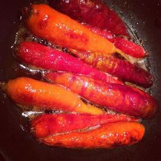 Heirloom carrots glazed with Classic Honey Butter. Only the best carrots from the farmers market will do. Place in skillet with 2 tablespoons Classic Honey butter, salt, and one half cup water. Cook until the liquid evaporates and the carrots are glazed.