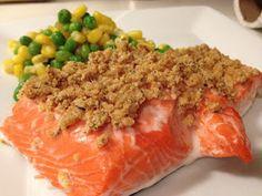 Easy Crunchy Mustard-Baked Salmon