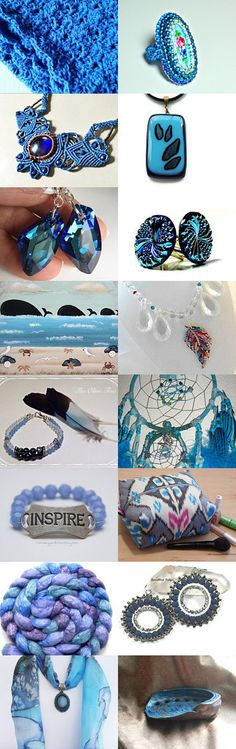 Blue Love ~ On Fire For Handmade ~ by Nancy on Etsy--Pinned+with+TreasuryPin.com