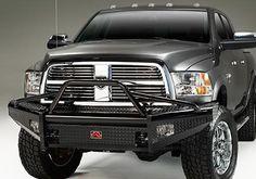 Dodge Ram Accessory - Fab Fours Dodge Ram Black Steel Front Winch Bumper