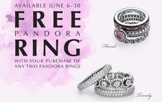 Explore and create your personal style. Take advantage of this offer. Free Pandora ring with your purchase of two Pandora rings. Visit Miami Lakes Jewelers today.  #MiamiLakesJewelers #Pandorarings