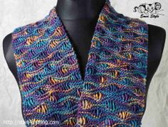 Scarf  Yarn Manos del Uruguay colorway Sagitarius