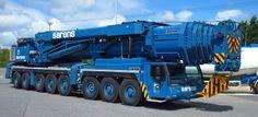 SUPER HEAVY 8 AXLE SARENS LIEBHERR mega mobile crane May 2014 3