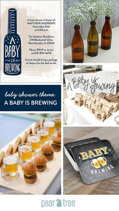 Babyparty-Thema: Ein Baby braut Baby Shower Ideas for Boys Baby Shower For Men, Man Shower, Unisex Baby Shower, Couples Baby Showers, Shower Baby, Fiesta Baby Shower, Baby Shower Party Favors, Baby Shower Cakes, Baby Shower Parties
