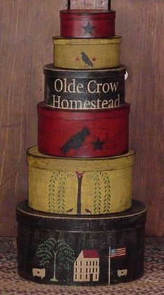 Olde Crow stacker boxes