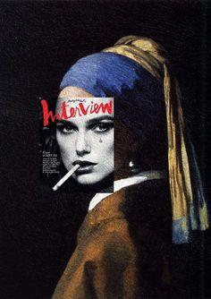 Des couvertures de magazines sur des peintures classiques couverture magazine mode peinture celebre 10: