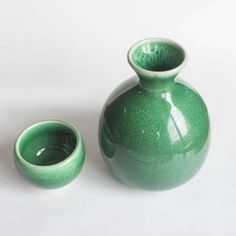 Mino Ware Sake Set - tokkuri and guinomi. Free worldwide shiping from Japan.