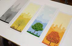4 Seasons in Chicago Print Set by ryankapp on Etsy