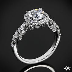 Verragio Half Eternity Halo Diamond Engagement Ring, $4,800.