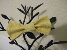yellow bow tie wood bow tie bow tie toddler by LimaGreenDesigns, $5.00