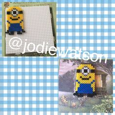 Despicable me, minion hama bead / perler bead designs made by myself
