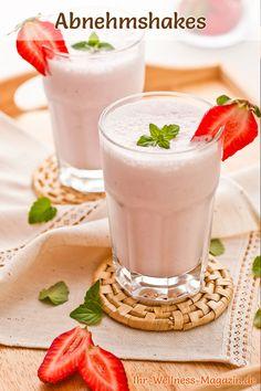 Leckere Abnehmshakes zum selber machen: Probieren Sie unseren Erdbeershake mit Eiweiß für die schlanke Linie ...
