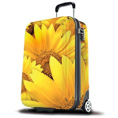 Free delivery on all SUITSUIT ABS Wheel Aboard Trolley Case / Suitcase (Sunflower) orders over and free gift with purchase. Sunflower Accessories, Types Of Handbags, Cabin Bag, Trolley Case, Ab Wheel, Designer Leather Handbags, Sunflower Pattern, Best Abs, Unique Bags