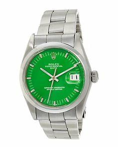 Rolex Watch - love the green!