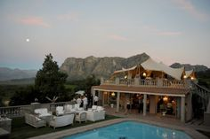 Up on the roof, anything's possible with Algarve Marquees! Algarve, Wedding Venues, Clouds, Mansions, House Styles, Tents, Home Decor, Wedding Reception Venues, Teepees