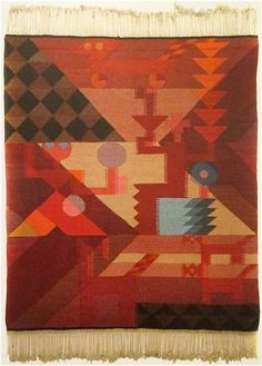 Sophie Taeuber-Arp, Untitled (a tapestry) 1918. She studied textiles before any other art form and was supremely talented at these early interpretations of abstract ideas in textile media.
