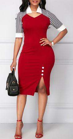 Cheap half sleeve Dresses online for sale Women's Fashion Dresses, Sexy Dresses, Cute Dresses, Casual Dresses, Sheath Dresses, Casual Outfits, Trendy Dresses, Elegant Dresses, Work Outfits