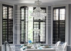 The Shutter World classic, innovative design, light to work with, the most popular of all our ranges. Old Shutters Decor, Outside Shutters, Kitchen Shutters, Farmhouse Shutters, Shutter Decor, Interior Window Shutters, Wooden Shutters, Contemporary Shutters, Arched Windows